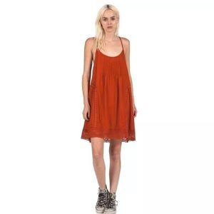 Volcom Anytime Spaghetti Strap Mini Dress